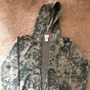Diesel Mens Zip Up Hoodie Camouflage Unique Design